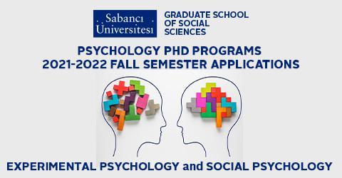 Psychology PhD Programs 2021-2022 Fall Semester Applications