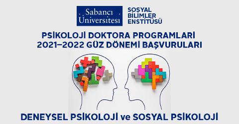 Psikoloji Doktora Programları 2021  2022 Güz Dönemi Başvuruları