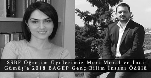 Mert Moral ve İnci Gümüş'e 2018 BAGEP Genç Bilim İnsanı Ödülü