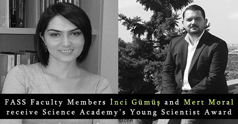 İnci Gümüş and Mert Moral receive Young Scientist Award 2018 (BAGEP)