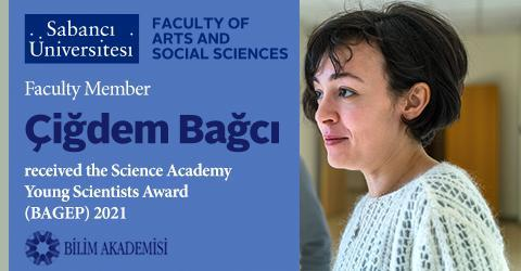 Çiğdem Bağcı received the Science Academy Young Scientists Award 2021