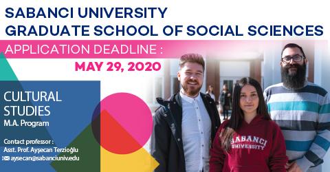Cultural Studies Program 2020-2021 Fall Semester Applications