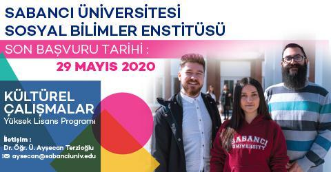 Kültürel Çalışmalar Programı 2020-2021 Güz Dönemi Başvuruları