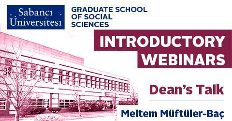 Graduate Programs Introductory Webinar - Dean's Talk