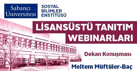 Lisansüstü Programlar Tanıtım Webinarı - Dekan Konuşması