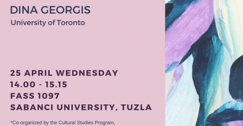 Gender Studies Speaker Series- Dina Georgis- April, 25, Wednesday...