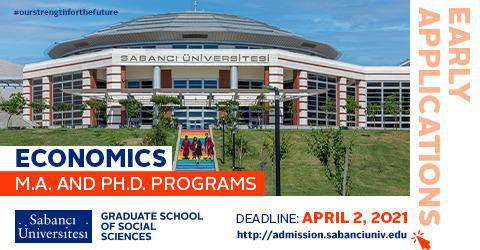 Economics Graduate Programs 2021-2022 Early Applications