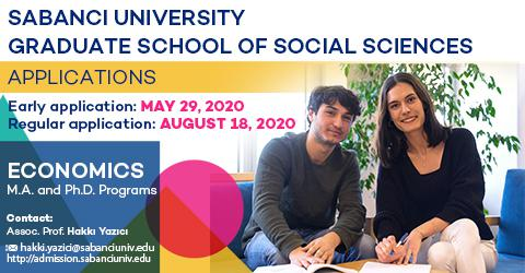 Economics Graduate Programs 2020-2021 Fall Semester Applications