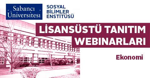 Ekonomi Programı Lisansüstü Tanıtım Webinarı