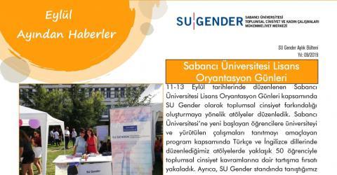 Eylül Ayından Haberler/ SU Gender 2019