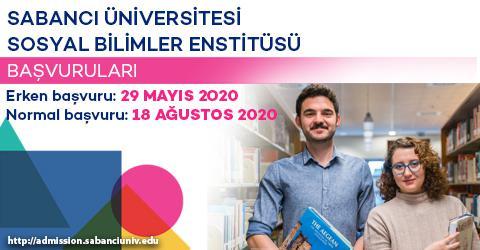 Sosyal Bilimler Enstitüsü 2020-2021 Güz Dönemi Başvuruları