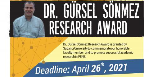 2020-2021 Academic Year Dr. Gürsel Sönmez Research Award