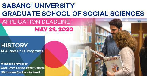 History Program 2020-2021 Fall Semester Applications