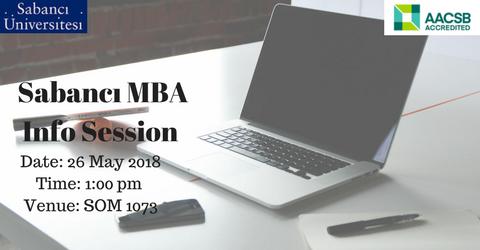 Full-time MBA Bilgilendirme Toplantısı - 26 Mayıs 2018