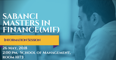Finans Yüksek Lisans Bilgilendirme Toplantısı - 26 Mayıs 2018