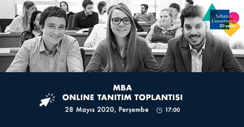 Tam Zamanlı MBA Programı Online Tanıtım Toplantısına davetlisiniz!