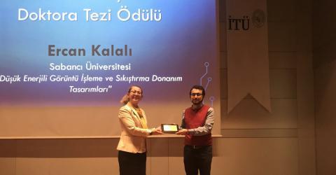 EE graduate Ercan Kalalı won the IEEE Turkey PhD Thesis Award