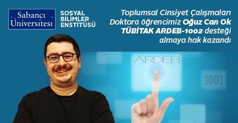 Doktora öğrencimize TÜBİTAK ARDEB-1002 desteği