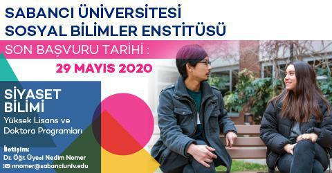 Siyaset Bilimi Programı 2020-2021 Güz Dönemi Başvuruları