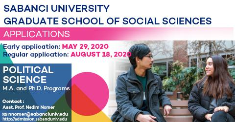 Political Science Graduate Programs 2020-2021 Fall Semester Applications