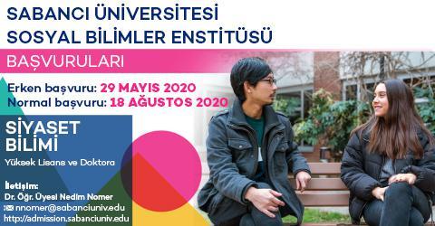 Siyaset Bilimi Lisansüstü Programları 2020-2021 Güz Dönemi Başvuruları