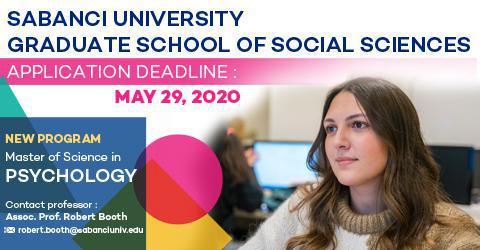 Psychology Program 2020-2021 Fall Semester Applications