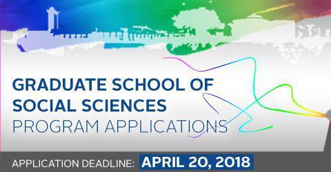 Graduate School of Social Sciences Program Applications for 2018-2019