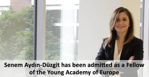 Senem Aydın-Düzgit admitted as a Fellow of the Young Academy of Europe