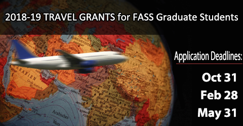 2018-2019 Conference Travel Grants for FASS graduate students