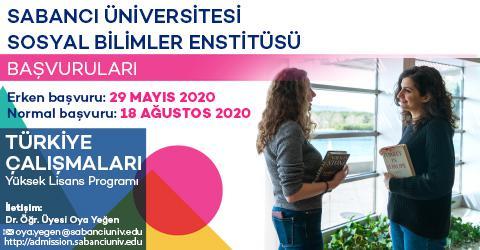 Türkiye Çalışmaları Y. Lisans Programı 2020-2021 Güz Dönemi Başvuruları