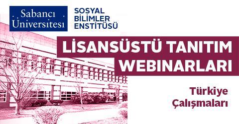 Türkiye Çalışmaları Lisansüstü Tanıtım Webinarı