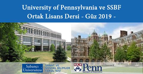 University of Pennsylvania ile Ortak Lisans Dersi, SSBF, Güz 2019