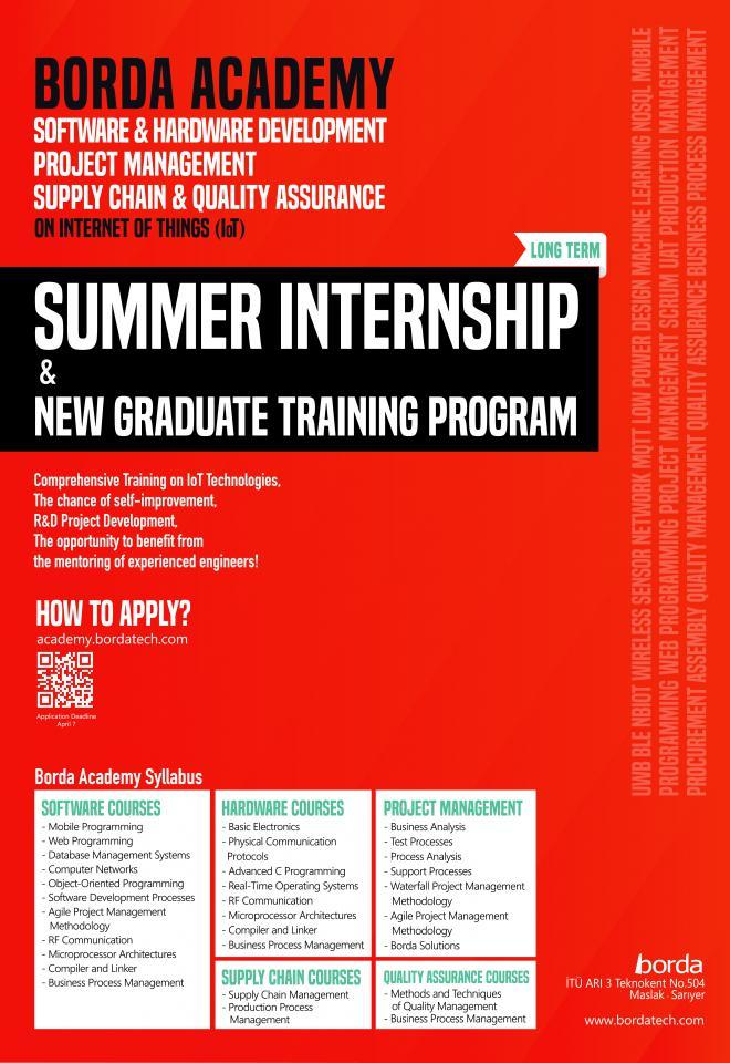 Summer Internship & New Graduate Training Opportunity