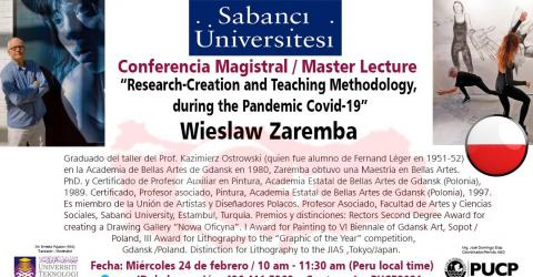 Master Lecture. Research -Creation  and Teaching Methodology, during the
