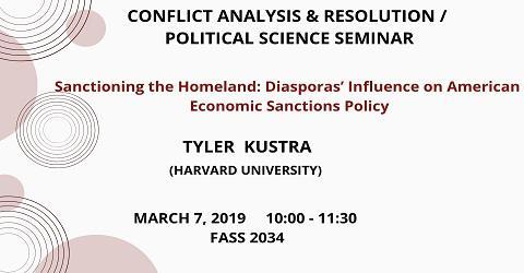 CONF/POLS SEMINAR: Tyler Kustra (Harvard University)