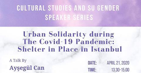 Cultural Studies and Su Gender Speaker Series - A Talk by Ayşegül Can
