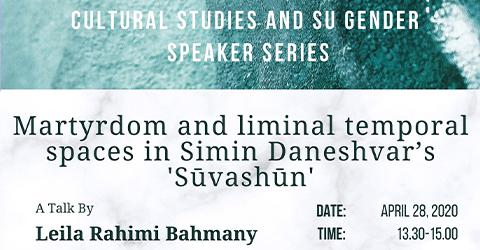 Cultural Studies and Su Gender Speaker Series - Leila Rahimi Bahmany