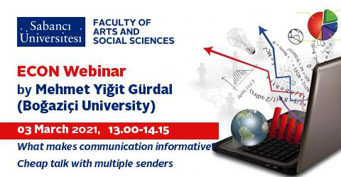 Econ Webinar by Mehmet Yiğit Gürdal (Boğaziçi University)