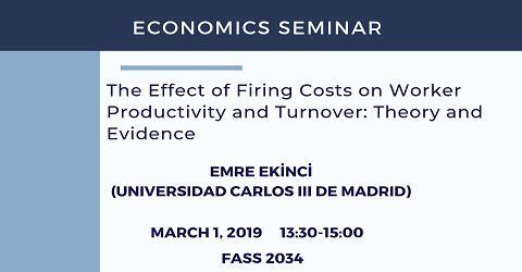 Economics Seminar: Emre Ekinci (Universidad Carlos III de Madrid)