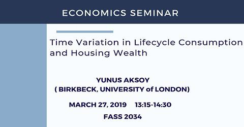 Economics Seminar: Yunus Aksoy (Birkbeck, University of London)
