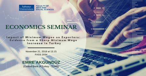 Economics Seminar: Emre Akgündüz (Central Bank of Turkey - TCMB)