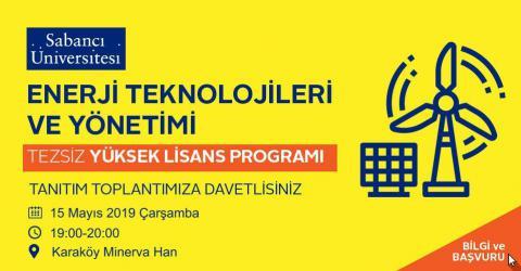 Eneri Teknolojileri ve Yönetimi (ETM) Yüksek Lisans Programı