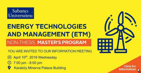 Information Meeting for Energy Technologies and Management (ETM) Program