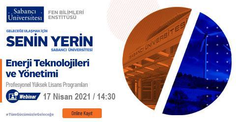 Enerji Teknolojileri ve Yönetimi Programı Tanıtım Toplantısı