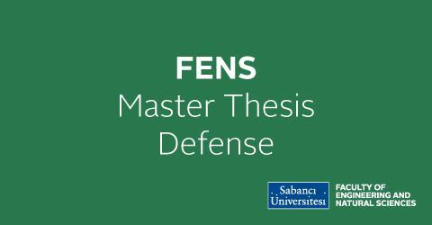 MSc. Thesis Defense:Deniz Anıl