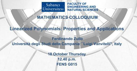 Mathematics Colloquium: Linearized Polynomials: Properties and Appli...