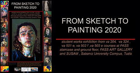 SSBF öğrencilerinin yeni sergisi: From Sketch to Painting 2020