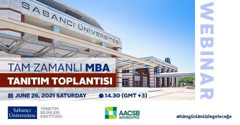 Tam Zamanlı MBA Programı Online Tanıtım Toplantısına davetlisiniz
