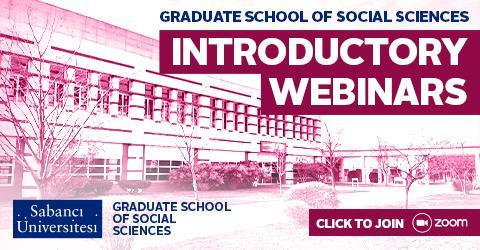 Sosyal Bilimler Enstitüsü Lisansüstü Program Tanıtım Webinarları