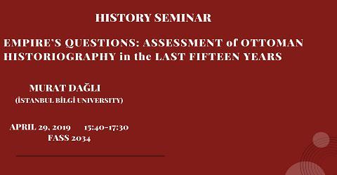 History Seminar: Murat Dağlı (İstanbul Bilgi University)